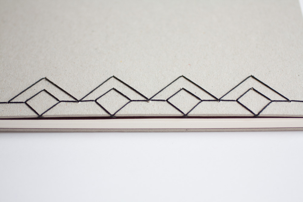 Photo Book With French Link Stitch, Japanese Stab Stiitch Binding Detail