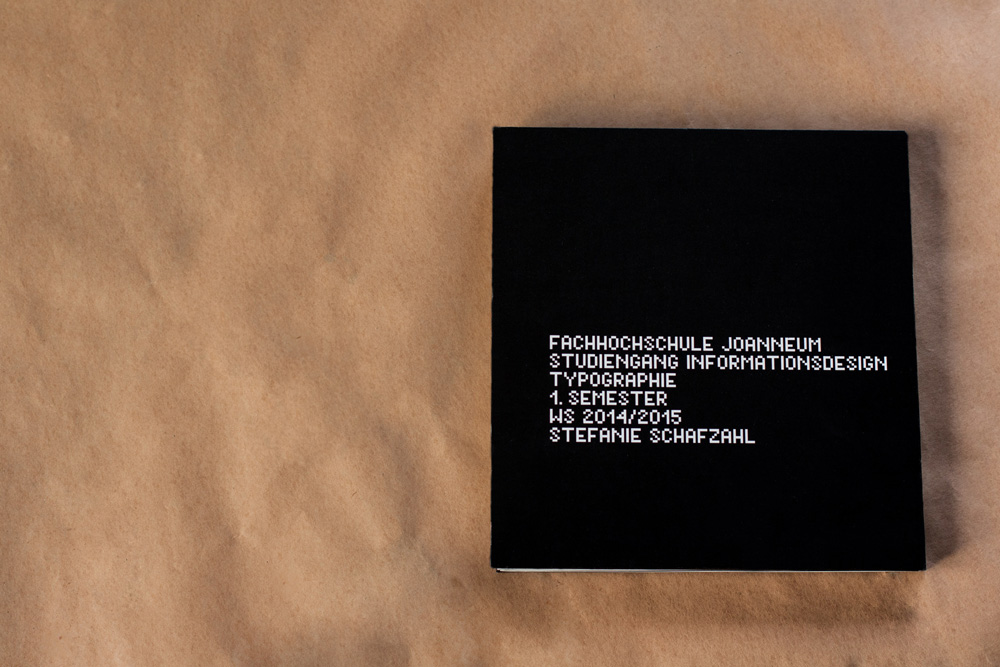 Book About Typography For FH Joanneum