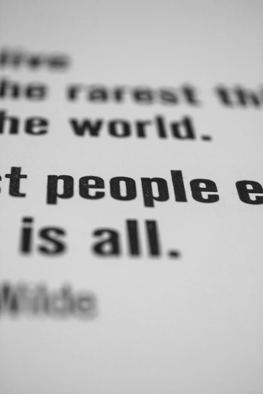 Oscar Wilde Letterpress Print Detail