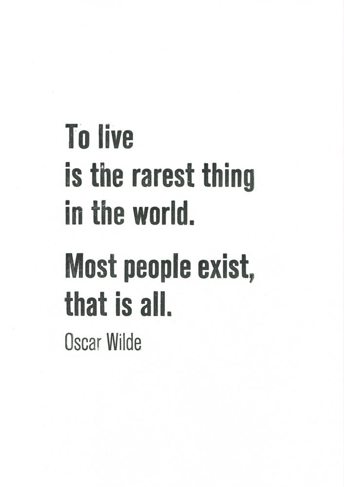 Oscar Wilde Letterpress Print