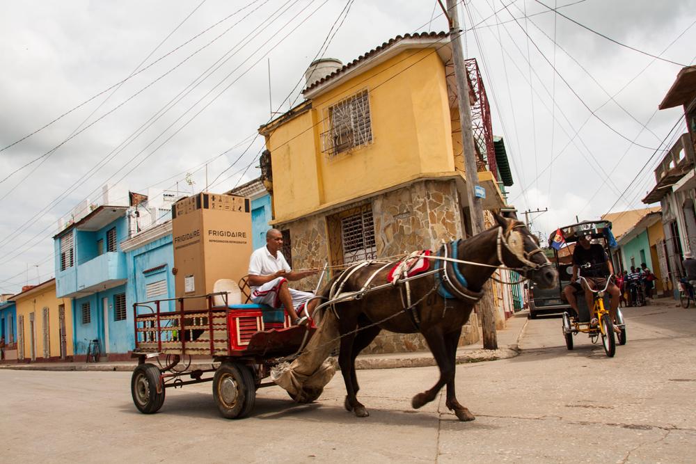 Photo Cuba Trinidad Man With Horse