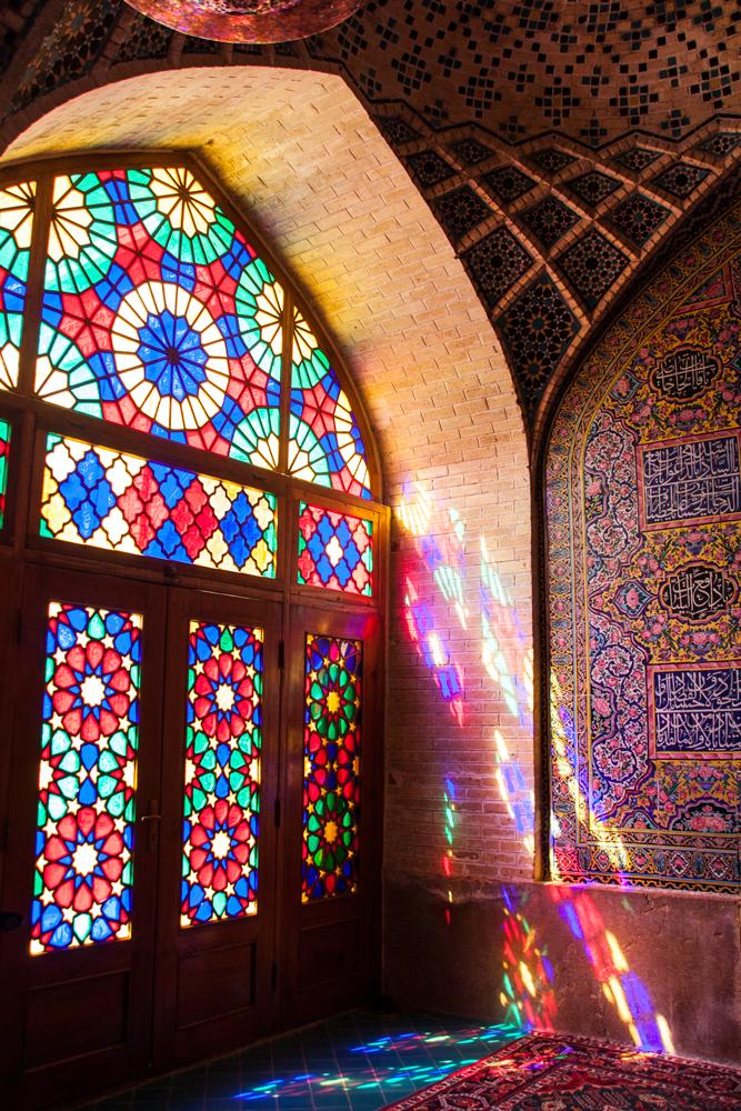 Iran Shiraz Nasir Al-mulk Glass Window Detail