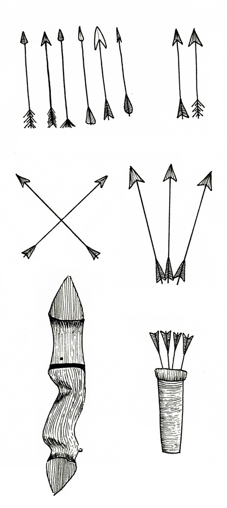 Analog Illustration Archery_arrows Woodpiece Quiver