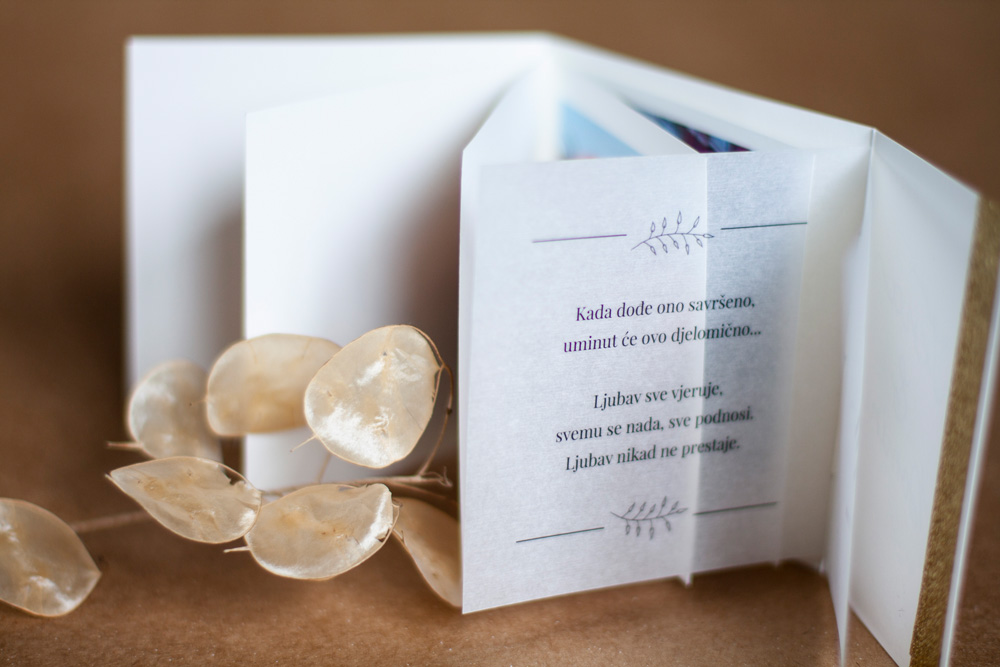 Greeting Card Inside Text On Translucent Paper