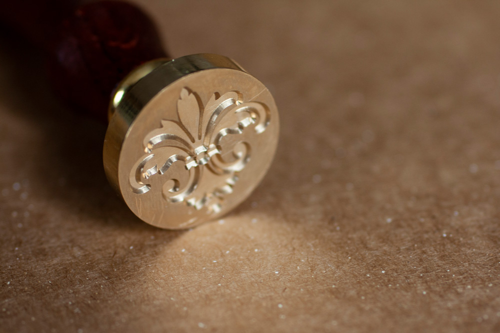 Close Up Of Wax Seal Stamp Lily